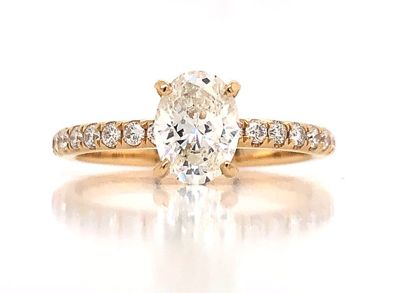 New- 18k Yellow Gold 1.09ct Diamond Engagement Ring Appraised $8120