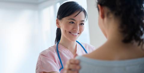 Nurse Talking to Patient