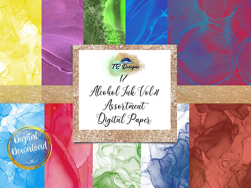 Alcohol Ink Vol 4 Digital Papers