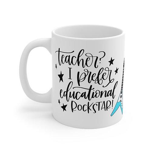 Educational Rockstar Mug, Teacher gift