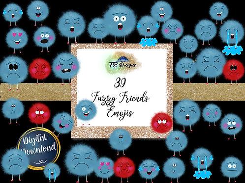 Fuzzy Friends Emoji Clipart
