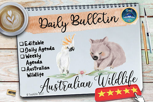 Australian Wildlife Daily Planner, Digital Bulletin Board