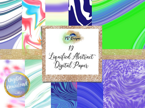 Liquified Abstract Textures Digital Papers