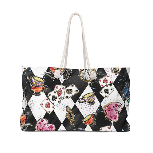 Black and White, Alice in Wonderland Teacher Bag