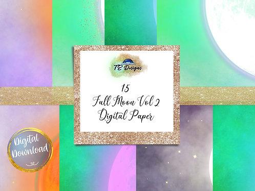 Full Moon Vol. 2Halloween Digital Papers