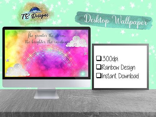 Rainbow Desktop Wallpaper| Digital Download | Desktop Wallpaper | Digital Deskto
