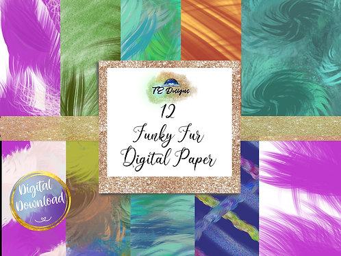 Funky Fur, Halloween Digital Papers