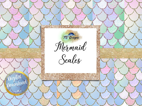 Mermaid Digital Papers - Commercial use