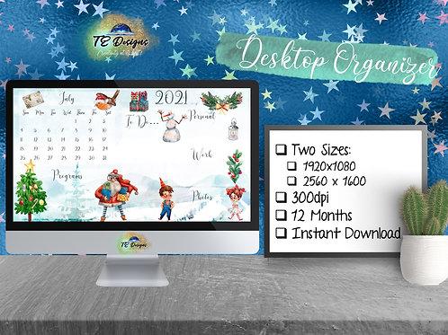 Cute Santa Christmas Desktop Organizer