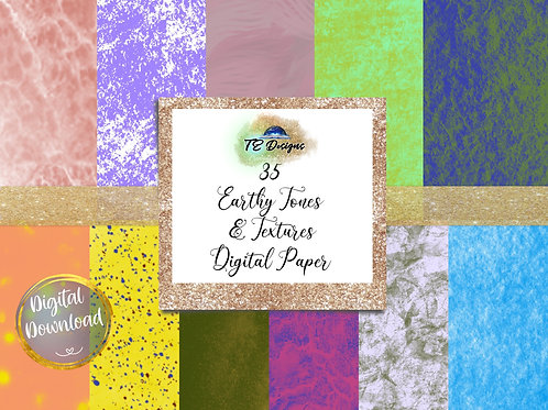 Earthy Tones & Textures digital papers