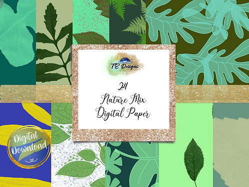 Nature Mix Digital Papers