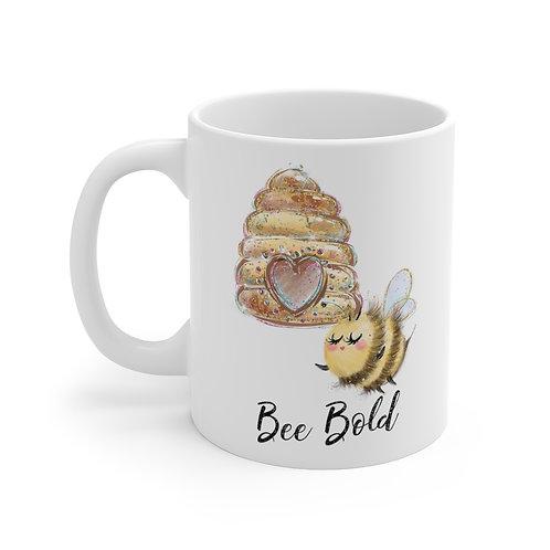 Bee Bold11oz Mug, Thank You Mug