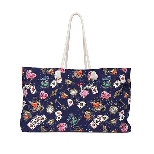 Playing Cards bag, Alice bag, Queen of Hearts Alice in Wonderland Teacher Bag