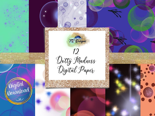 Dotty Madness Digital Papers