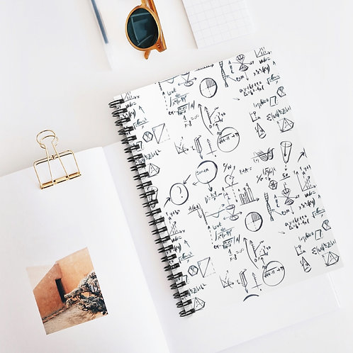Maths, Science Notebook Spiral Notebook - Ruled Line