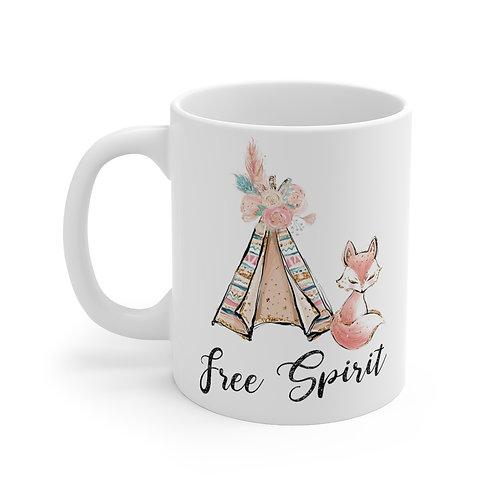Boho Free Spirit 11oz Mug, Bohemian End of Year Gift