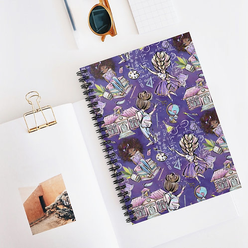 Purple,  Back to School Spiral Notebook - Ruled Line