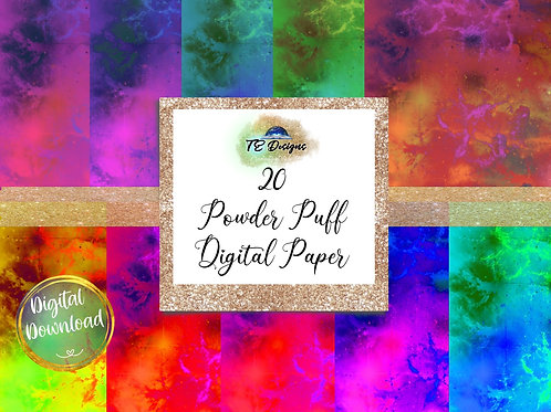 Powder Puff Digital Papers