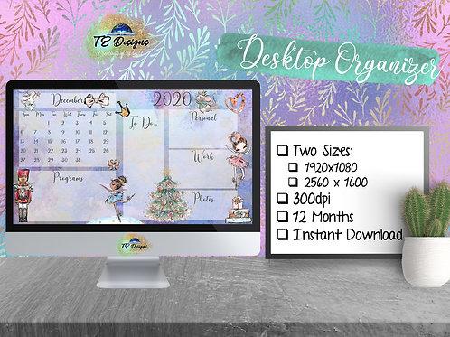 Christmas Nutcracker Desktop Planner/Organiser