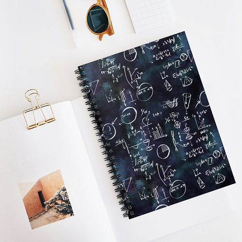 Equation, Science, Maths Spiral Notebook - Ruled Line