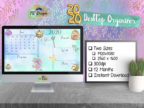 Queen Bee Desktop Planner/Organiser
