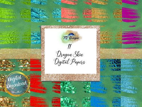Dragon Skin, Reptile  digital papers