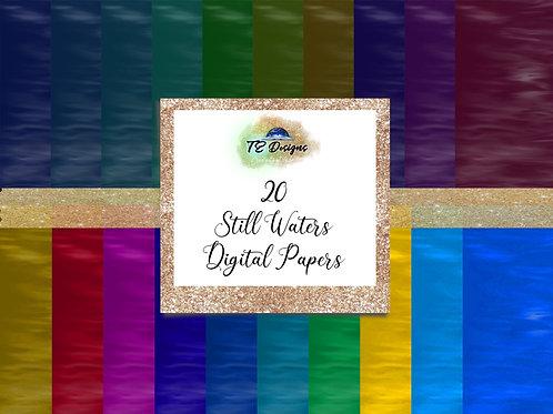 Calm Waters Vol 1 digital papers