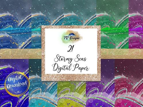 Stormy Sea Vol 1 Digital Papers