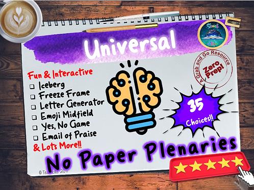 No Paper Plenaries