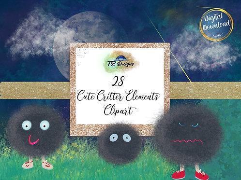 Cute Critter, Halloween,  Spooky, Cute Elements Clipart