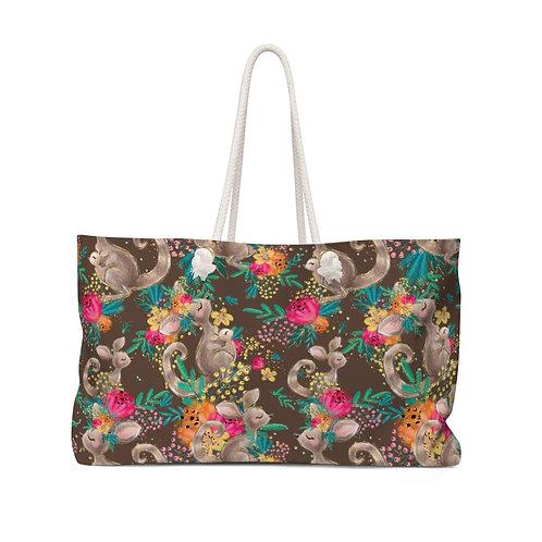 Kangaroos and Flowers, Floral Kangaroo, Aussie Collection Teacher Bag