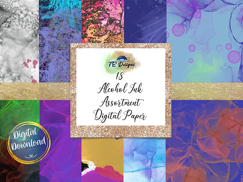 Alcohol Ink Vol. 3 digital papers