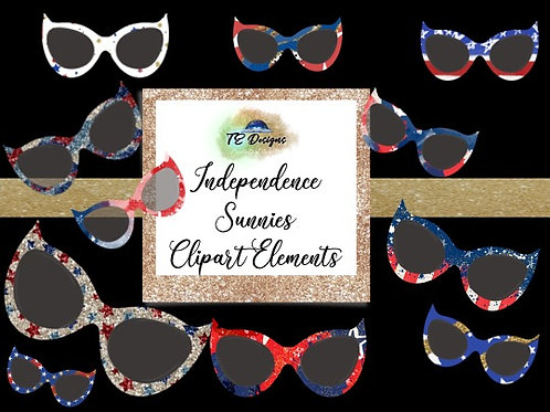 Independence Specs Clipart Overlays for Commercial use