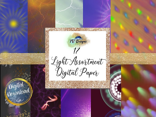 Light Assortment Halloween Digital Papers