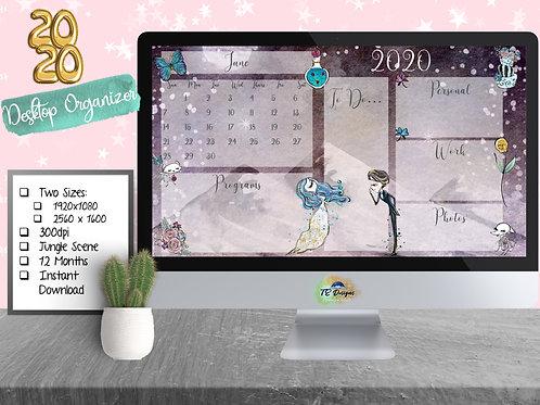 Gothic Romance desktop organiser/organizer background