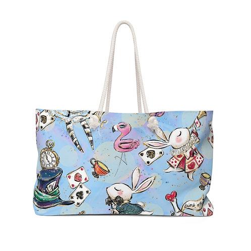 Baby Blue Rabbit bag, Alice bag, Queen of Hearts Alice in Wonderland Teacher Bag