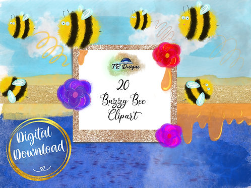 Buzzy Bee Cute Elements