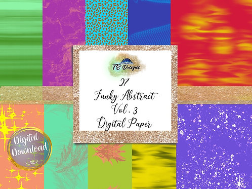 Funky Abstract Vol 3 Backgrounds Digital Papers