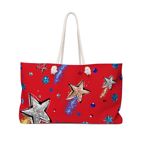 Red Stars and Stripes Independence Day Collection Teacher Bag