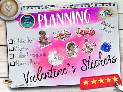 Valentines Reward & Planner Stickers