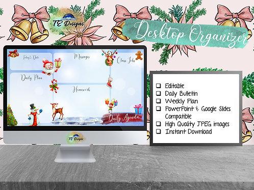 Ho Ho Ho  Daily Planner, Digital Bulletin Board