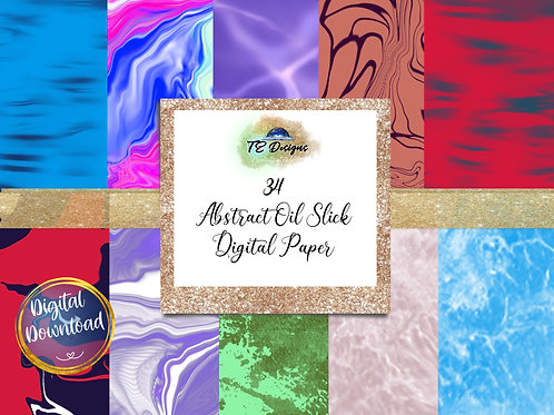 Abstract Oil Slick digital papers