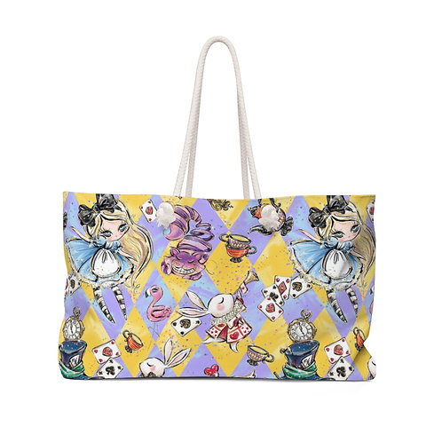 Yellow and Purple Alice in Wonderland Teacher Bag