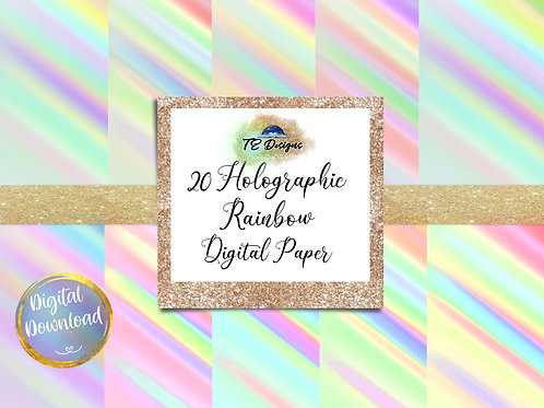 Holographic Rainbow Digital Papers