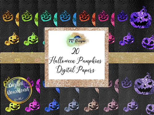 Halloween Pumpkin digital papers