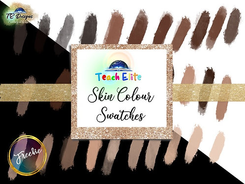 Skin Colour Swatches for IPad -FREE WITH CODE
