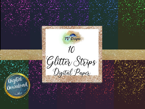 Glitter Strips Digital Papers