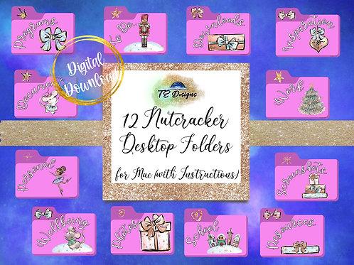 Christmas Nutcracker Desktop Folders for Mac