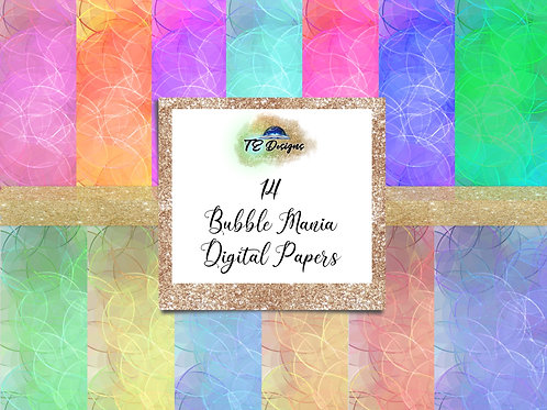 Bubble Mania digital papers