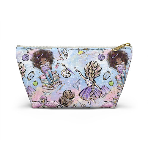 Back to School Pencil Case, Teacher, Student Accessory Pouch w T-bottom